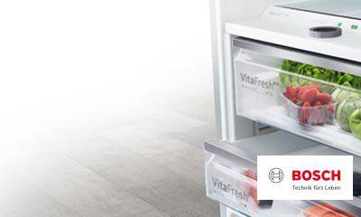 Bosch Kühlschrank Service : Bosch macht platz bis zu prozent mehr platz und vitafresh pro